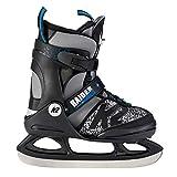 K2 Skate Jungen Raider Ice Schlittschuhe, Schwarz/Grau, S/US 11-2/EU 29-34