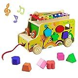 yoptote Xylophon Kinder Montessori Spielzeug ab 1 2 3 Jahr Hammerspiel Musikinstrumente für Kinder ab 1 2 3 Jahr Holzspielzeug Geschenk 1 2 3 Jahr Junge Mädchen