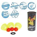 Speedminton Sport Bälle 3er Pack Speeder Match Tube Speedminton Bälle, Rot/Gelb,Einheitsgröße EU