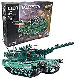 CaDA C61001 2in1 Set Amerikanischer M1A2 SEP Abrams Ferngesteuerter Kampfpanzer 1:42 (47cm,) kompatibel mit LEGO Technic, 1498 Teile