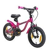 LÖWENRAD Kinderfahrrad für Jungen und Mädchen ab 3-4 Jahre | 14 Zoll Kinderrad mit Bremse | Fahrrad für Kinder | Berry