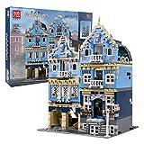 Mould King 16020 Bausteine Europäische Marktstraße Haus Modellbausatz, 3016 Teile Klemmbausteine Häuser Bauset mit Beleuchtungsset Kompatibel mit Lego Technik klemmbausteine
