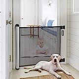 Meinkind Türschutzgitter Treppenschutzgitter Roll, Hundeschutzgitter, Baby Absperrgitter ausziehbar & einrollbar, 88cm x 122cm
