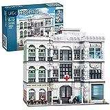 SINI Modular Haus Bausteine, Krankenhaus , 4953 Klemmbausteine Bausteine Architektur Modell Konstruktionsspielzeug, Haus Modular Buildings Kompatibel mit Lego Haus