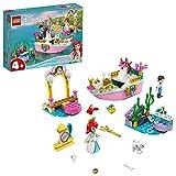 LEGO 43191 Disney Princess Arielles Festtagsboot, Boot mit Mini-Puppe von Arielle die Meerjungfrau, Spielzeug für Kinder ab 4 Jahre