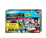 Noris 606013595 Kinder-Quiz – Quizspiel mit 3300 Fragen und Wahlmöglichkeiten, für 1 - 6 Spieler, ideal für Zuhause oder auf Reisen, für Kinder ab 6 Jahre