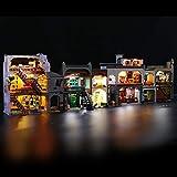 BRIKSMAX LED-Beleuchtungsset für Lego Harry Potter Winkelgasse, LED-Beleuchtungsset-Add-on für Lego Set 75978 -ohne Lego-Modell (Fernbedienungsversion)