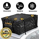 Auto Dachbox, 15 Kubikfuß Faltbare Gepäckbox 425L Dachgepäckträger Wasserdicht Soft Dachtasche Aufbewahrungsbox für Mehr Stauraum(95x95x46cm)