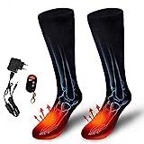 AUED Beheizte Socken, Wiederaufladbare Heizung Socken Heizung warme Socken Beheizbare Socken Skisocken warme Füße Schatz, Winter im Freien Ski Jagd Camping