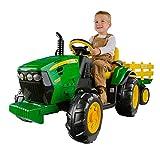 John Deere Ground Force Kinder Elektro Traktor von Peg Perego 12 Volt mit Anhänger