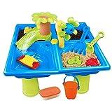 Kinder Spieltisch wassertisch Sand und Wasserspieltisch Spielzeug Kinder Strand Sandspieltisch draußen Wasserspieltisch Buddeltisch Zubehör Kinder Sandspielzeug, Für Kinder Ab 3 Jahre