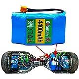 Okoman Hoverboard Akku 36v 4.4ah, 4400mah Wiederaufladbarer 18650 Li-ion Akku Mit BMS Kompatibel Mit Diverse Hoverboards, Balance-Boards, Segways, E Scooter Akku