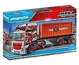 PLAYMOBIL City Action 70771 LKW mit Anhänger mit klappbarer Seitenverkleidung und schwenkbarer Anhängerkupplung, ab 4 Jahren