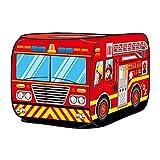 FDSJKD Kinder Kinder Zelt Popup Spiel Zelt Outdoor Faltbares Spielhaus Feuer LKW Polizei Auto Spiel Haus Bus Zelt Indoor Outdoor Spiel (Color : R)