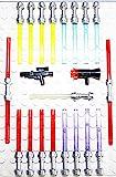 Lego Star Wars 21 Waffen für Figuren Laserschwerter Blaster TOP Waffenset 2010 Griff in der neuen Farbe 'FLAT SILVER'