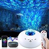 Sternenhimmel LED, Wifi Rotierende Wasserwellen Galaxy Light mit App-Steuerung und Timer, Projektionslampe Kompatibe mit Alexa und Google Assistant, für Kinder Party Weihnachten