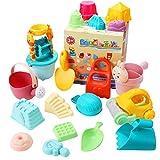 joylink Kinder Sandspielzeug Set, 26-teiliges Strandspielzeug Kit für Kinder mit Sandschaufel Eimer Sandformen Netzbeutel, Kleinkinder Sandkasten Spielzeug Wasser & Sand Spielset für Strand Outdoor