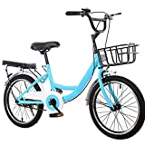 20 Zoll Kinderfahrrad - Premium Mountainbike- Fahrrad für Mädchen, Jungen, Herren und Damen (Blau,Empfohlene Körpergröße: 115-130 cm)
