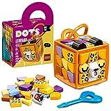 LEGO 41929 DOTS Taschenanhänger Leopard Bastelset für Mädchen und Jungen, Schlüsselanhänger zum Basteln