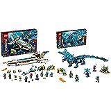Lego 71756 Ninjago Wassersegler, U-Boot, Set mit 10 Ninja Mini Figuren & NJAGO Wasserdrache Drachen Spielzeug für Kinder ab 9 Jahre, Set mit 5 Ninja Mini Figuren