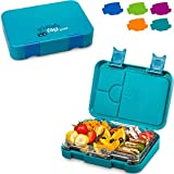 schmatzfatz junior Kinder Lunchbox, Bento Box mit variablen Fächern (Petrol)