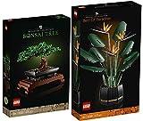 BRICKCOMPLETE Lego 2er Set: 10289 Paradiesvogelblume & 10281 Bonsai Baum