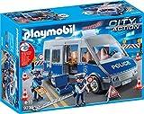PLAYMOBIL City Action 9236 Polizeibus mit Straßensperre, Ab 4 Jahren