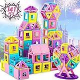 Dookey Magnetische Bausteine, 141Pcs Konstruktion Bauen Blöcke Montessori Bausteine Spielzeug Auto Spielzeug Roboter Schloss Ferris Wheel Ideales Lernspielzeug für Zuhause Schule Kindertagesstätte