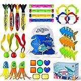 Joy joz Kinder Tauchspielzeug 30PCS Schwimmbadespielzeug Tauchstöcke Tauchringe zum Schwimmbad, Sommer Wasserspielzeug Schwimmspielzeug Tauchspiel für Schwimmbäder