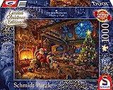 Schmidt Spiele 59494 Thomas Kinkade, Der Weihnachtsmann und Seine Wichtel, Limited Edition, 1000 Teile Puzzle, Bunt