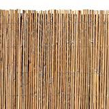 ESTEXO Bambusmatte - Sichtschutzzaun, Gartenzaun, Natur, Bambus, Zaun, Sichtschutz, Windschutz (1,50m x 5,00m)