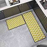 OPLJ Küchenmatte Anti-Rutsch-Türmatte Modernes Wohnzimmer Balkon Badezimmer Geometrisch bedruckter Teppich Waschbare Fußmatte A14 40x60cm