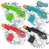 AOLUXLM Wasserpistole Wasserspielzeug Spielzeug Für Kinder Erwachsene Pool Garten Water Gun Spritzpistolen, Strand, Wasser Pistole als Geschenk Jungen Mädchen (4 Pack)
