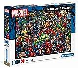 Clementoni 39411 Marvel Universe – 1000 Teile, Impossible Puzzle, Familien Geschicklichkeitsspiel, farbenfrohes Legespiel, Erwachsenenpuzzle ab 14 Jahren, ideal für Weihnachten
