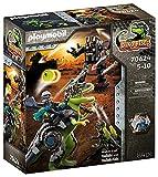 PLAYMOBIL Dino Rise 70624 Gefecht der Giganten: Dinosaurier T-Rex und Deinonychus mit Teammitglied Ian vs. Kampfroboter der Comet Corporation, Ab 5 Jahren