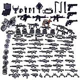 Vengo Custom Waffen Set für Soldaten Mini Figuren SWAT Team Polizei, kompatibel mit Lego