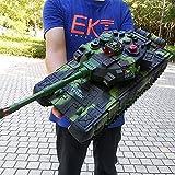 2 RC Kampfpanzer Mit Rauch- Und Soundeffekt RC Panzer Neuer 2.4Ghz Emulational British Challenger Mit Ladekabel Fernbedienung Panzer Panzer Deutscher Tiger Spielzeug Urlaub Geburtstagsgeschenke