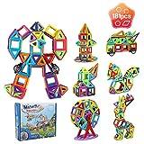 Innoo Tech Magnetische Bausteine, 181tlg Mini Konstruktionsbausteine, Inspirierende Bauklötze Baukasten, Magnetbausteine, Magnetspielzeug Lernspielzeug, Tolles Geschenk für Baby Kleinkind ab 3 Jahre