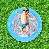 Aufblasbarer Pool 23x23.7 Aufblasbarer Kinderpool Langlebiger Aufblasbarer Pool Tragbare Badewanne Zusammenklappbar Pool für Baby und Kinder