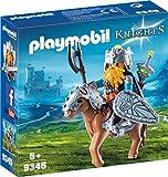 PLAYMOBIL Knights 9345 Zwerg und Pony mit Rüstung, Ab 5 Jahren