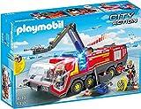 PLAYMOBIL City Action 5337 Flughafenlöschfahrzeug mit Licht und Sound, Ab 4 Jahren