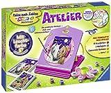 Ravensburger 28507 Malen nach Zahlen Atelier Pferde - für Kinder ab 7 Jahren, Malset mit Rahmen, Pinsel, Maltafeln, Acrylfarben, Leuchtfarbe und mehr