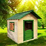 BRAST Spielhaus für Kinder 106 x111x132cm Tannenholz 12mm Kinderspielhaus Stelzenhaus Garten Baum Turm Holzhaus