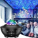 LED Sternenhimmel Projektor, eLinkSmart Sternenprojektor Musik Spielen über Bluetooth, Wasserwellen Sternenlicht für Raumdekoration/Party, Nachtlicht mit Timer für Kinder