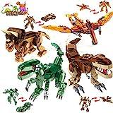 VATOS Dinosaurier Bauspielzeug für Jungen und Mädchen 979 Stück Dino Baukasten 12 Modelle Konstruktionsspielzeug für Kinder Alter 5 6 7 8 9 10 11 12 Jahre alt T-REX Figuren Bausteine Geschenk