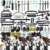 LIND Custom Military Waffen Set Und Zubehör für Mini Soldaten Minifiguren SWAT Team Polizei Bausteine Millitärspielzeug Kompatibel Mit Lego Figuren
