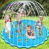 Nabance Wasserspielzeug Garten 200cm Splash Pad Sprinkler Play Matte Outdoor Splash Wasserspielmatte Wassersprenger Sommer Garten Wasserspielzeug für Kinder Jungen und Mädchen