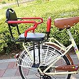 XUDAN Kindersitze Fahrrad,Hinten Kindersitz,Abnehmbarer Zaun Armlehne Und Pedal-KöRnerkissen Baby Sicher Sitzen Verdickung Verbreiterung FüR 2-8Jahre Altes Baby