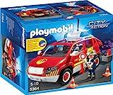 PLAYMOBIL City Action 5364 Brandmeisterfahrzeug mit Licht und Sound, Ab 5 Jahren