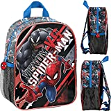 Goldkids Spider-man Marvel Lizenz Ware Rucksack Kinder, Schultasche Kindergarten mit Aufdruck, Kinderrucksack für Jungen, Kinder Geschenk inkl. leuchtende Anhänger